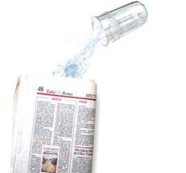 leche en el periodico