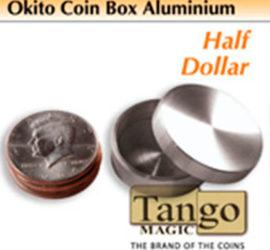 Caja okito de aluminio para medio dólar disponible en Magia Estudio