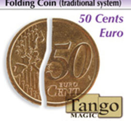 Moneda plegable de 50 céntimos de Euro disponible en Magia Estudio