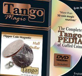 Moneda flipper magnética de medio dólar disponible en Magia Estudio