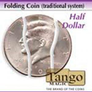 Moneda plegable de medio dólar, sistema interno, disponible en Magia Estudio