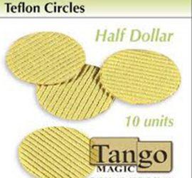 Círculos de teflón tamaño medio dólar disponible en Magia Estudio