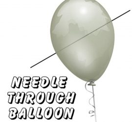 aguja a traves del globo