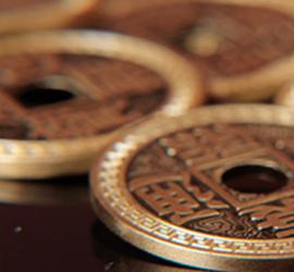 set de monedas chinas en magia estudio