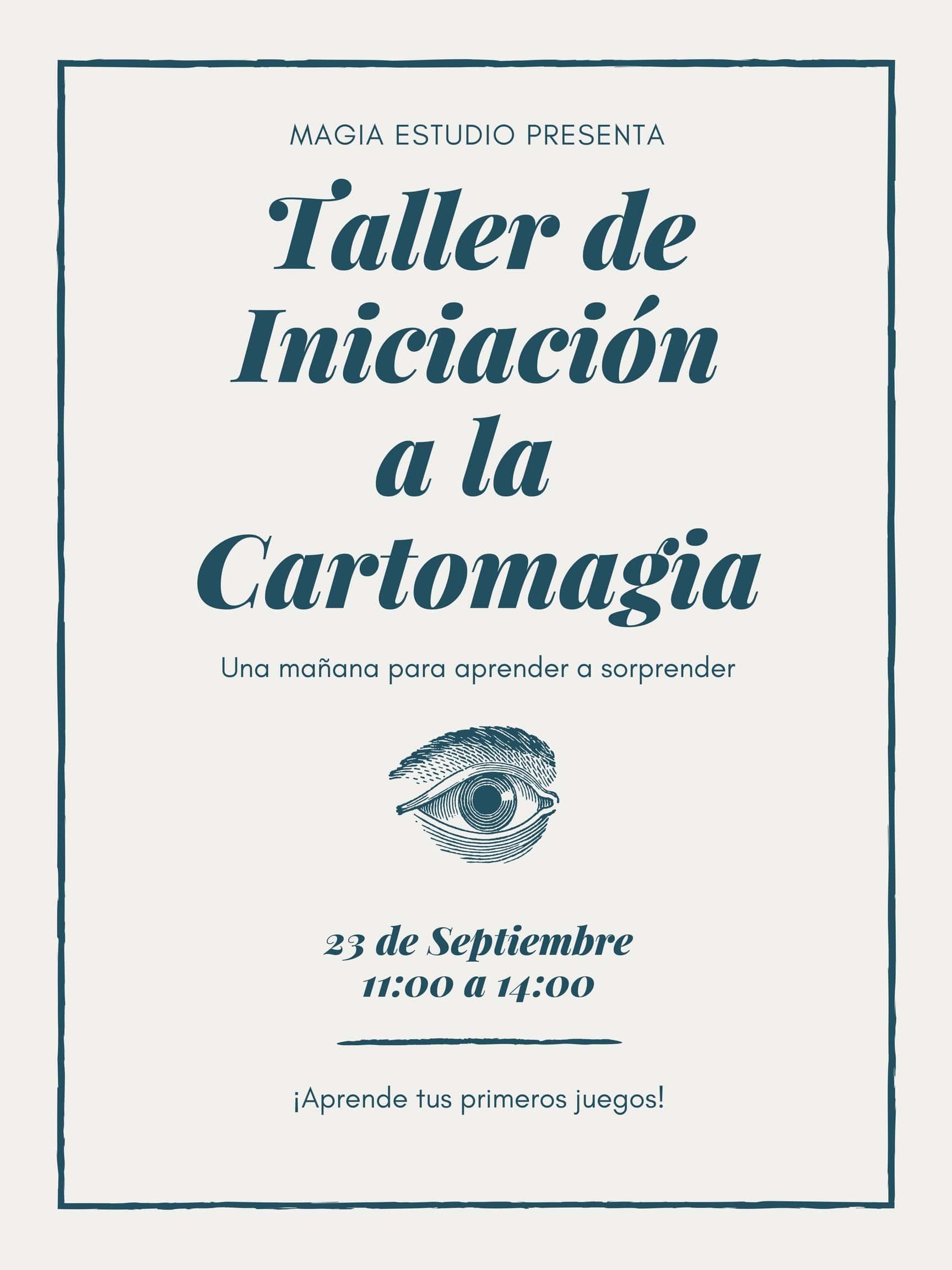 taller de iniciacion a la cartomagia