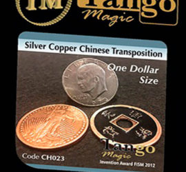 Silver, copper, chinese transpo, tamaño dólar disponible en Magia Estudio