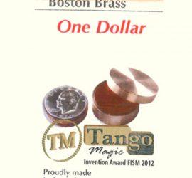 Caja Boston de cobre, tamaño dólar, disponible en Magia Estudio